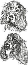 English Cocker Spaniel Puppy Dog Embroidered Kitchen Chef Apron Personalize Free