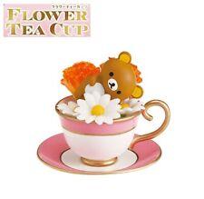 RE-MENT Rilakkuma Flower Tea Cup Figure #1 Carnation Margaret Full of Flowers