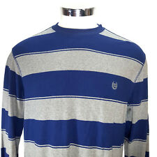 Chaps Striped Sweater Long Sleeve Blue and Gray Mens LT Large Tall