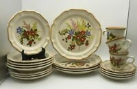 YOUR CHOICE MIKASA GARDEN CLUB A BASKET OF WILDFLOWERS PLATES, BOWLS, CUPS