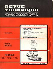 RTA revue technique automobile n° 313 RENAULT 15 TL TS 17 TL 1972