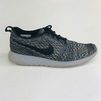 Nike Roshe One Flyknit Womens Size 10 Grey Athletic Running Shoes 704927-007