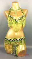 belly dance  dancing costume set outfits 2pics handmade bra+belt 12 color S/M/L