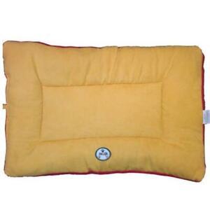 Pet Life PB1ORMD Medium Eco-Paw Reversible Pet Bed - Orange and Red