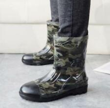 Men Ankle Boots Rain Outdoor Camo Leisure Pull On Fishing Waterproof Shoes Vogue