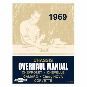 Neues Reparaturhandbuch Chevrolet Chevelle Camaro Nova Corvette 1969 Werkstatt