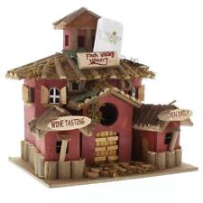 Winery Birdhouse - Detail Wood - Doors Shutters - Mossy Roof - W Clean Out Hole