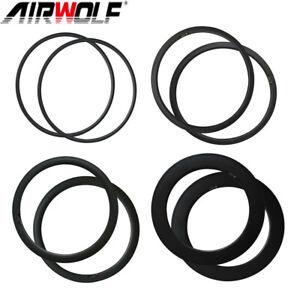 1 Pair 700C Carbon Rims Wheels Clincher/Tubeless 20/24 Holes Road Bicycle Rims