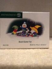 Dept 56 North Pole Series - Board Game Fun - #57205 - Mint - Rare