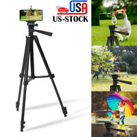 Professional Camera Tripod Stand + Phone Holder for Smartphone iPhone 12 Samsung