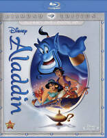 Aladdin (Blu-ray/DVD, 2-Disc Set, Diamond Edition) New Free SAME 1-3 Day Ship