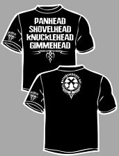 "Black--""Panhead Shovelhead knucklehead Gimmehead"" XXL t-shirt"