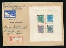 Fr. Zone Württemberg Block 1 Einschreiben-Luftpostbrief ISNY 4.6.49 (61050)