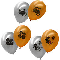 Hollywood Party Gold Silver Celebration Printed Latex Balloons Listing