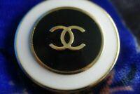 100% Chanel button 1 pieces  cc logo 20 mm 0,8 inch  ❤❤❤medium size
