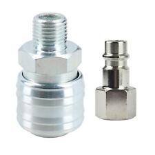 """Air Line Hose Fitting Female Coupler & Male Fitting 1/4"""" BSP Euro Quick Release"""