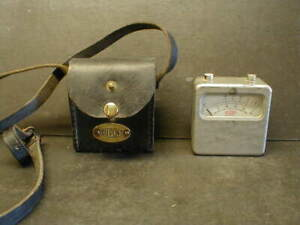 VINTAGE DUPONT BLASTING GALVANOMETER w/LEATHER CASE