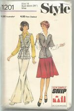 Style Sewing Pattern 1201, Vintage Cardigan, Skirt, Trousers, Size 14, Uncut