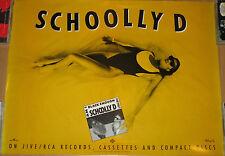 SCHOOLLY D, Black Enough, original Jive promotional poster, 1989, 18x24, EX, rap