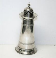 Antique Art Deco Silver Plated Sugar Shaker Lighthouse Style Design 7in