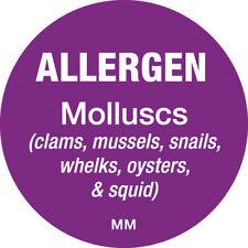116147 - Daymark 25mm Circle Purple Allergen Molluscs Label