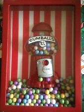 Bubble Gum 3D Glass Picture Frame Window Wall Hanging Gumball Machine Dispenser