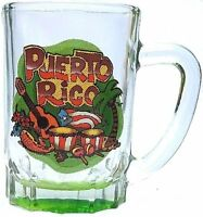Puerto Rico Flag Souvenirs Mini Mug Shot Glass ( Boriqua , Rican ) 3oz MUSICAL