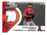 2021 Topps Mike Trout Major League Material white jersey patch relic card Angels