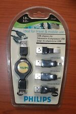 New Philips PM1247 USB Extension Cables kit 3.2 ft. Travel and Mobil use