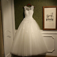 2018 New Lace White/Ivory Wedding Dress Bridal Gown Custom Size 6 8 10 12 14 16