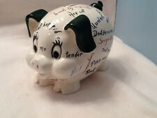Vintage Lefton Piggy Bank Pig Coin Sayings Rare 1579 Mid Century Retro