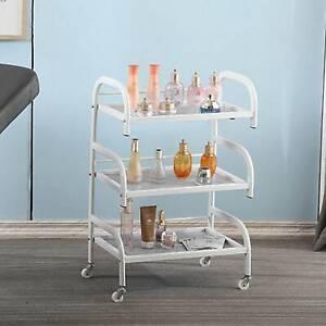 Glass Trolley Shelves 3-layer beauty frame Toughened Shelves Hair Beauty Salon