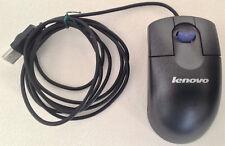 Lenovo USB Wired Optical Blue Illuminated Scroll Mouse Model 41U3018 FRU 41U3019
