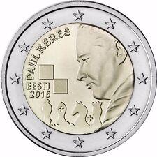 Estland 2 Euro Gedenkmünze 2016 bfr Münze 100. Geburtstag von Paul Keres