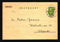 Estonia 1940 Used Pre Printed Commercial Postcard - Z18095