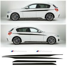 BMW 1 Series F20 full M Performance Side Skirt Stripes Decals Vinyl Stickers