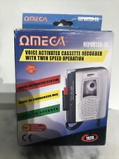 More details for omega reporter 20 cassette recorder/player voice activated - silver - boxed