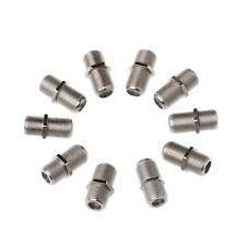 10pcs Alloy Aluminium Connector F Plug Coupler Adapter 4 Sky HD TV Coax Cable