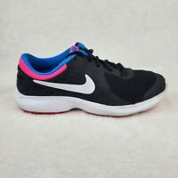 NIKE REVOLUTION 4 (GS) Black Pink Aqua White 943306 008 Size 5.5Y Youth Girls