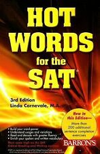 Hot Words for the SAT by Linda Carnevale (2007, Paperback, Revised)