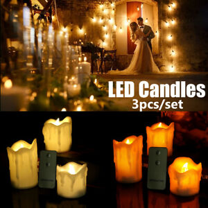 Flameless Votive Candles Battery Operated Flickering LED Tea Light Set of