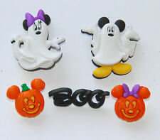 Mickey & Minnie Ghosts / Disney Dress It Up Button / Mickey Mouse Pumpkins