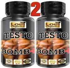 2 TESTO Bomb Muscle Gain Testosterone Booster 60 BIG 600 MG Capsule Tribulus 96%