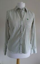 Abercrombie & Fitch Women's Green and Pink Striped Long Sleeve Shirt Size L