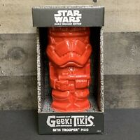 STAR WARS Geeki Tikis Red Sith Trooper Mug Early Release Edition 18oz
