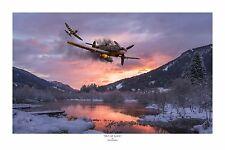 """WWII WW2 Luftwaffe Bf109 Me109 USAAF P-47 Aviation Art Photo Print - 12"""" X 18"""""""