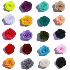 120PCS 4CM Nonwovens Material Fabric Flower Felt Rose Flowers For Apparel