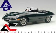 AUTOART 73604 1:18 JAGUAR E-TYPE ROADSTER SERIES I 3.8 GREEN METAL WIRE WHEELS