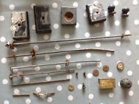 Antique Clock Fixings Mounts Bars One Lock From Clockmakers Parts Collection
