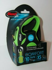 Flexi Soft Grip Comfort 10 Ft. Retractable Leash Tape Green Size XS Max. 26 lbs.